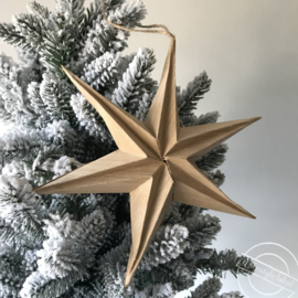 Ornament ster naturel
