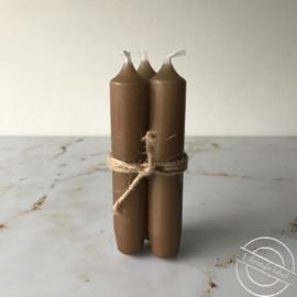 Set van 3 kaarsen licht bruin