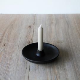 Kaarsen kandelaar antraciet keramiek