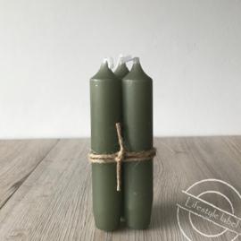 Set van 3 kaarsen groen