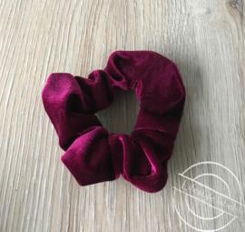 Scrunchie haarelastiek donker roze