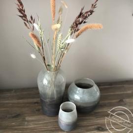 Glazen vazen roze/paars
