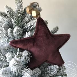 kersthanger ster bordeaux groot
