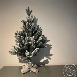 Kunstkerstboom met sneeuw