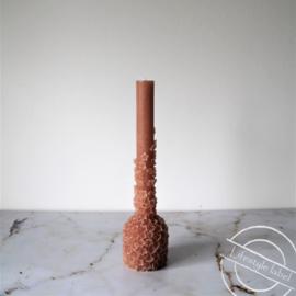 Sculpture bloom kaars caramel