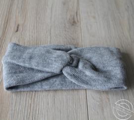Warme haarband grijs