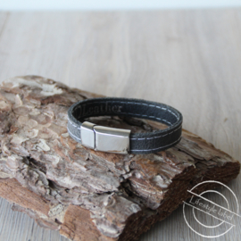 Heren armband grijs