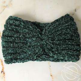 Warme haarband groen