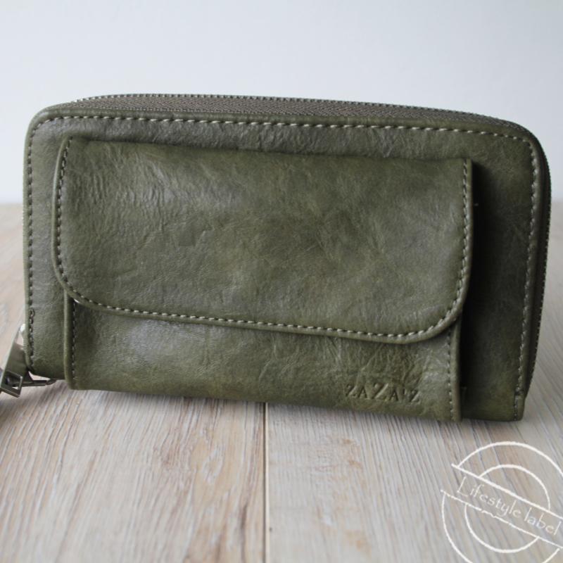 Portemonnee donker groen