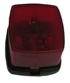 zijlamp rood vierkant