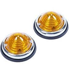 2 oranje zijlampen rond