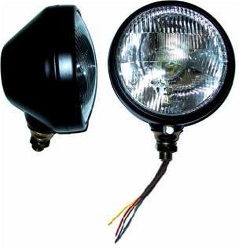 koplamp 160 mm zwart met E-keur