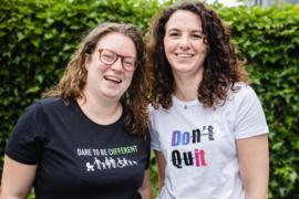 """DAMES T-shirt """"DON'T QUIT"""""""