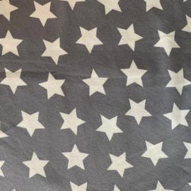 Scrunchie effen grijs met witte sterren