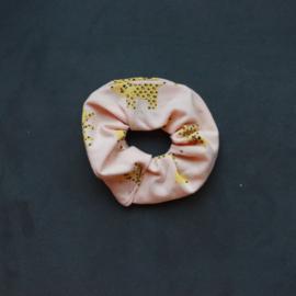 Scrunchie roze-gele tijger
