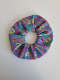 Scrunchie Rainbow panter blauw