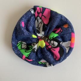 Scrunchie Minni Mouse blauw