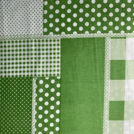 SALE Sjaal Patchwork groen