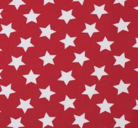Sjaal rood met witte sterren