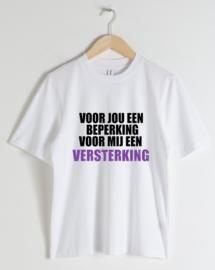 """HEREN T-shirt """"beperking is versterking"""""""