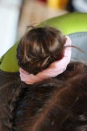 Scrunchie licht roze