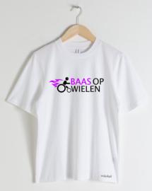 """DAMES T-shirt """"Baas op wielen"""""""