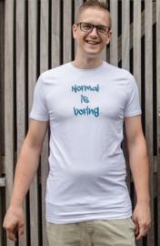 """HEREN T-shirt """"Normal is boring"""""""
