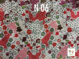 Maat 2 ||S39 Bloemen wit/ rood