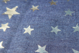 Haarband Denim Gold Star
