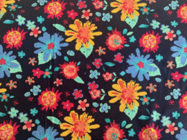 Scrunchie Flower Power Dark blue