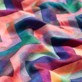 Scrunchie Zigzag Pink Neon