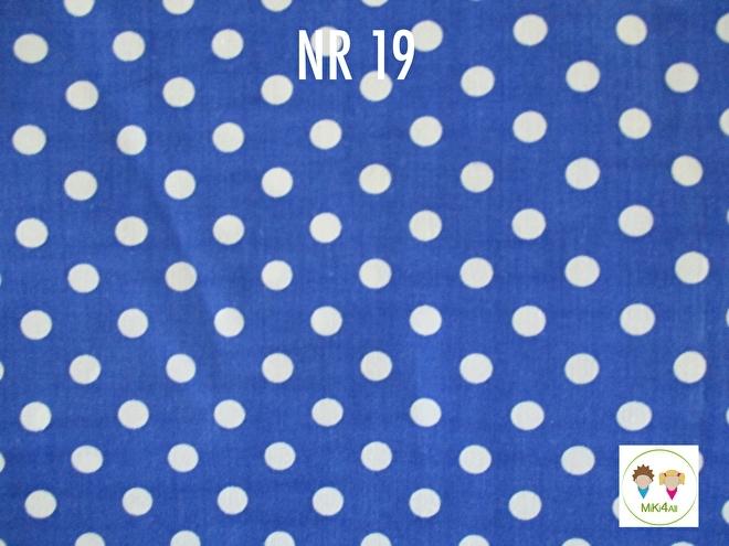 Sjaal Kobaltblauw witte stip