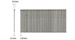 Mini Brads 1,2mm Dikte 25mm Galv doos a 100.000