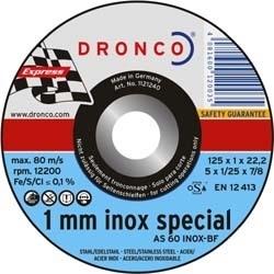 Dronco 10x 1mm doorslijpschijf metaal 125mm
