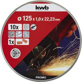 kwb 712022 dunne slijpschijven voor haakse slijper 125 mm incl. oordopjes