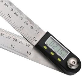 ATT Digitale Hoekmeter 0-360 Graden - Gradenmeter Meetlat Met Goniometer Functie