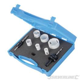 Silverline 9-delige loodgieters bimetalen gatenzaag set