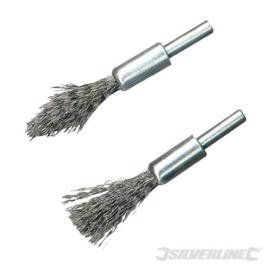 Silverline 2-delige stalen penseelborstel set
