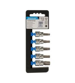 """Silverline 5-Delige 3/8"""" Aandrijving Torx 40-T60 Doppen Set art 580431"""