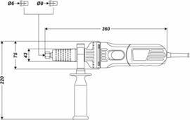 Volkers 600 W rechte slijper slijper  met Regelbaar toerental