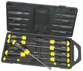 Stanley magnetische schroevendraaier set 10 delig in koffer 2-65-005