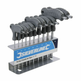 Silverline 328015 T9 - T50 Torx T greep + rekje