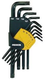 Proxxon 23944. 9 delige set met haakse Torxsleutels.