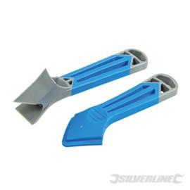 Silverline 2-delige kitstrijker en verwijderhulpmiddel set