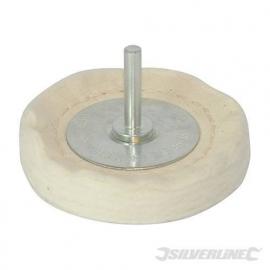 silverline polijst lappenschijf 75mm voor op de boormachine