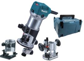 Makita RT0700CX2J bovenfrees / kantenfrees / trimmer in Mbox - 710W
