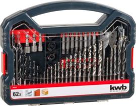 KWB Bit-Boren doos standaard, 62-delig - 109106