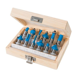 Silverline 12-delige 12 mm TCT hard metalen frees set