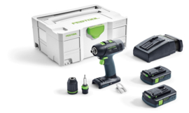 Festool accuschroefboormachine T 18+3 Li 5,2 Plus systainer