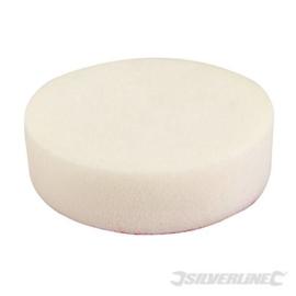 Klittenband schuim polijstkop kleur wit grof